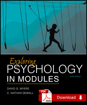 Exploring Psychology in Modules 10th Edition by David G. meyers ¤PDF¤ EB00K