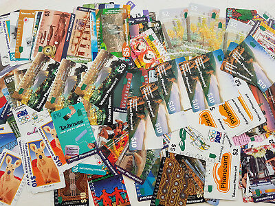 200 collectable Aussie phone cards, with duplicates, many 1 holes