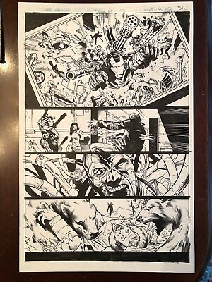 WAR MACHINE #11, (IRONMAN) pg # 2 Original Comic Art, AWESOME ACTION, NO RESERVE