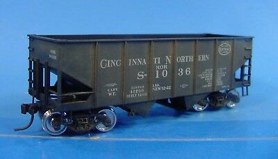 #258 Ho Accurail Cincinnati Northern Nyc 2 Bay Hopper  Nor S-1036 Weathered