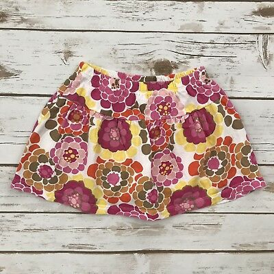 FADED GLORY Girls Size 3T Organic Cotton Pink White Floral Skirt