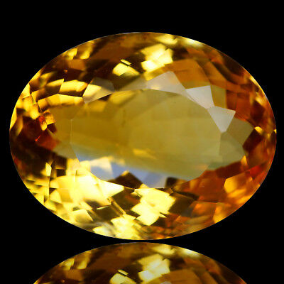 11.25 Ct AMAZING! NICE GRADE GENUINE NATURAL GOLDEN YELLOW CITRINE