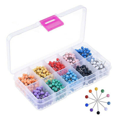 500 Map Push Pins Map Tacks Plastic Round Head Tacks with Steel Points UK SELLER