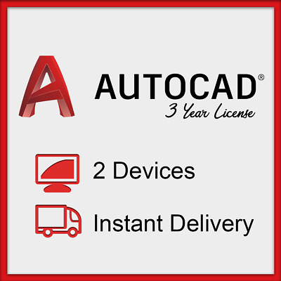 Autodesk AUTOCAD 2019 For Windows and MAC | 3 Year Licence | Instant Delivery |