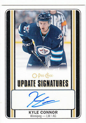 16/17 Opc O-Pee-Chee Kyle Connor Signatures Autograph Auto