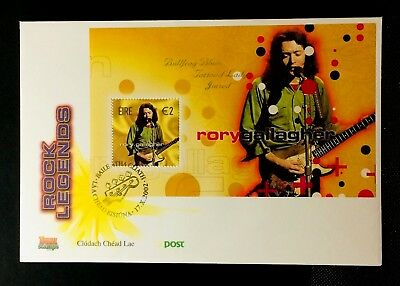 IRELAND, FDC,2002,ROCK LEGENDS, Rory Gallagher, SG.M/S45, #371