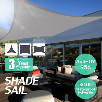 300D 280GSM Sun Shade Sail Waterproof Outdoor Top Canopy Patio UV Fabric  Gift