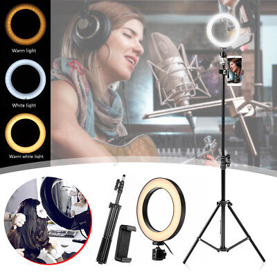LED Ring Light with Stand & Holder Dimmable Lighting Kit For Makeup Youtube Live