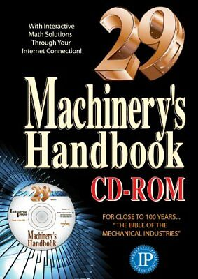 (PDF) Machinerys Handbook CD ROM and Toolbox Set  29th Edition by Erik Oberg