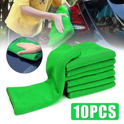 10 Pcs Microfibre Cleaning Detailing Soft Cloth Wash Towel Duster For Auto Car