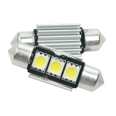 Lampadine Siluro Auto CANBUS Dome 3 LED C5W SMD 5050 Interior Bulb Light 36mm
