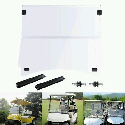 Folding Clear Acrylic Windshield Fit Club Car Precedent Golf Cart Part 2004 - Up