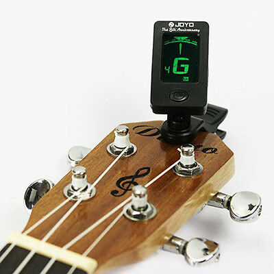 LCD Digital Clip On Guitar Tuner Electronic Chromatic Bass Violin Ukulele NEW
