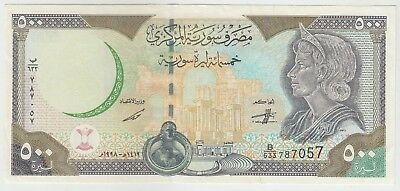 Syria 500 Pounds 1997 Issue Banknote Pick: 110 in VF++