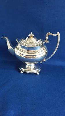 Glorious Lge Footed Georgian Hallmarked Sterling Silver Teapot Bateman 1818 938g