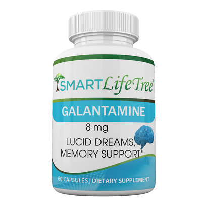 Galantamine Lucid Dreaming & Nootropic Supplement - 8mg, 60 Caps  Extra Strength