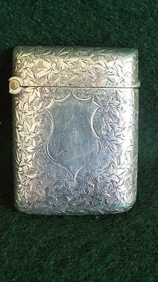 Super & Well Engraved Sterling Silver Purse Vesta Case Hallmarked B'ham 1894 17g