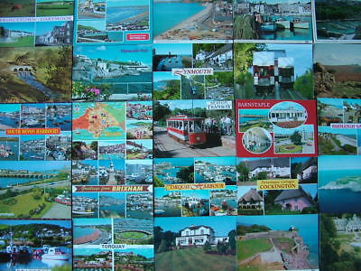 100 Unused Postcards of DEVON. Good condition. Mainly 1980's onwards....