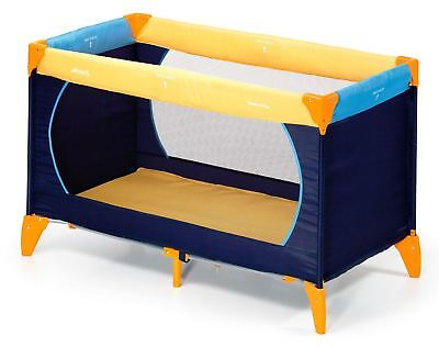 Hauck DREAM'N PLAY YELLOW/BLUE/NAVY Baby/Child Travel Cot BN
