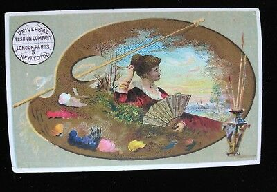 Vtg 1880's Trade Card-Universal Fashion Co. New Home Sewing Machines & Patterns