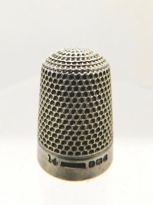 1905 Antique Hallmarked Silver Thimble - Henry Griffith & Son