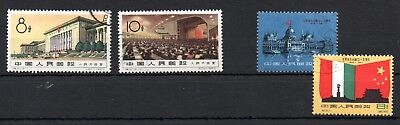 CHINA , 1960 , TWO better sets , USED ( one stamp crease )