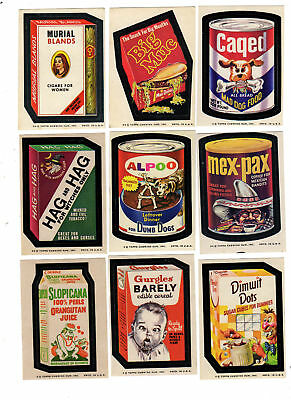 1974 Topps Wacky Packages 7th Series 7 Big Muc Complete Sticker Set 33/33 NM-