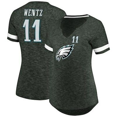 033856c36 Majestic Carson Wentz Philadelphia Eagles Women s Charcoal My Guy Name    Number