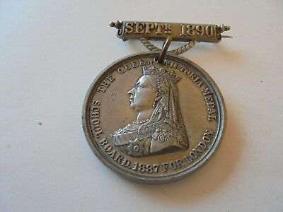 1890 Queen Victoria  awarded Fred J Field award Punctual Attendance