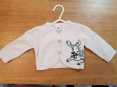 Baker by Ted Baker baby girl pink cardigan 0-3