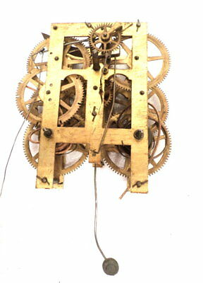 American 2 Weight Shelf Clock Movement For Parts or Replacement