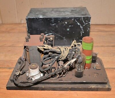 Early tube radio prototype or hand made antique collectible parts or repair
