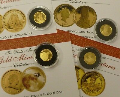 1/25oz 24ct .999 Fine Gold Coins Various Subjects & Countries See Drop down menu