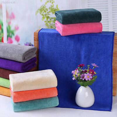 2E6A Microfiber Water Absorbent Washing Towel Cloth Thickening Shower 30X70cm