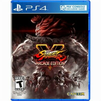 PS4 Street Fighter V 5 Arcade Edition NEW Sealed Region Free USA Plays on all!