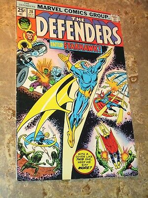 Defenders #28 Higher Grade 1st Full Appearance Starhawk, Guardians of the Galaxy