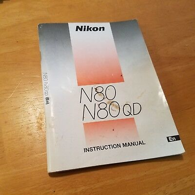 Nikon N80 N80 QD Instruction Book Manual