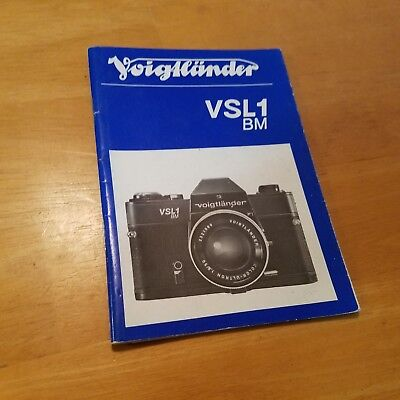 Voightlander VSL1 BM Instruction Book Manual