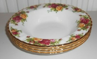 Royal Albert China Old Country Roses 4X Rimmed Soup / Dessert Bowls 1St Q    Tp2