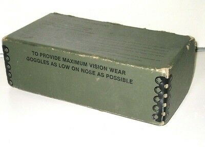 Vintage U.S. Military Goggles BOX ONLY Stemaco Products Port Huron MI ~ no date