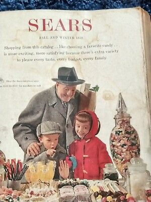 Vintage 1958 Fall And Winter Sears Roebuck Catalog