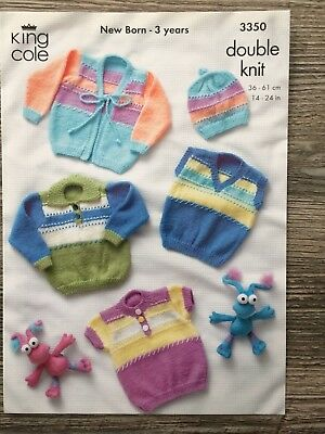 "King Cole Knitting Pattern: Baby & Child's Sweaters & Cardigans, DK, 14-24"" 3350"