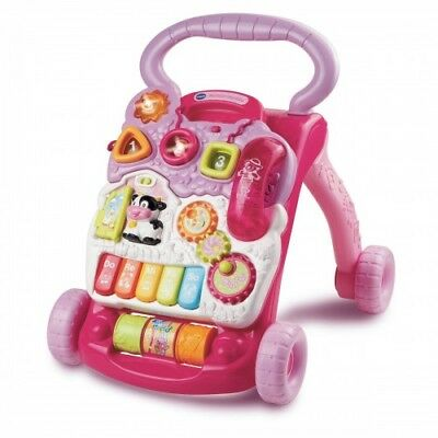Boxed Vtech Interactive Baby First Steps Baby Walker Pink Ideal Gift