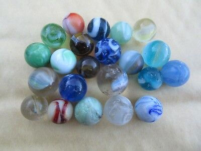 Vintage Small Marbles Collection of 22 various conditions