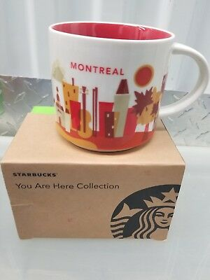 Starbucks Mug Montreal You Are Here NEW IN BOX!Free shipping.