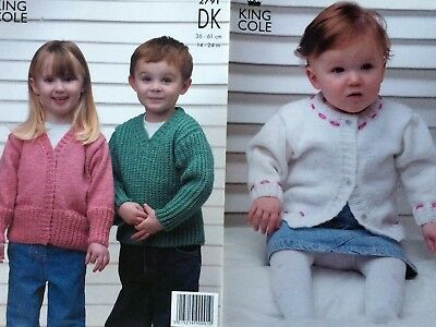 "King Cole Knitting Pattern: Baby/Child's Cardigans & Sweater, DK, 14-24"", 2791"