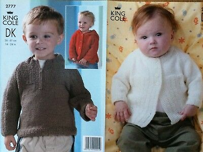 "King Cole Knitting Pattern: Baby/Child's Jackets & Sweater, DK, 14-24"", 2777"