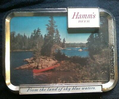 PLASTIC HAMMS BEER SIGN from the land of sky blue waters