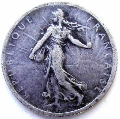 France Coins, 1 Franc 1916, Sower Girl, Silver 0.835