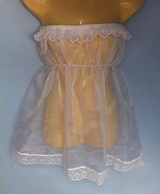 organza dress adult baby fancy dress sissy french maid cosplay fit chest 36-52.